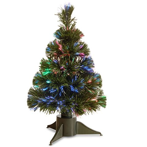 national tree company 18 inch fiber optic ice tree with green base battery operated w timer