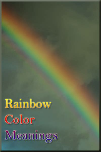rainbow colors meaning the colors of the rainbow color psychology personality
