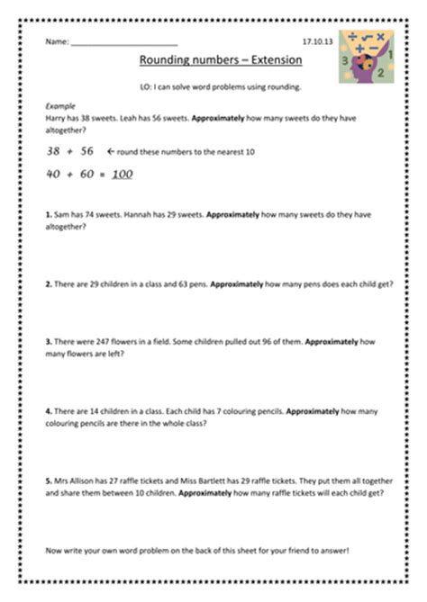 rounding word problems  supersophiee teaching resources