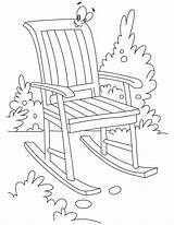 Chair Coloring Rocking Pages Garden Bestcoloringpages Furniture Chairs Printable Beach Getcoloringpages Sheets sketch template