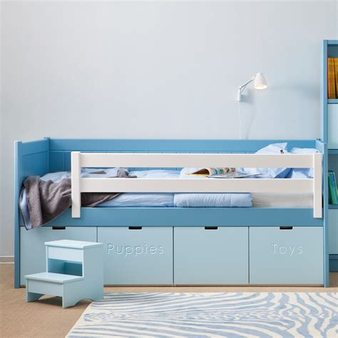 Toddler Bed With Storage by Bahia Storage Bed Step Stool Boys Beds