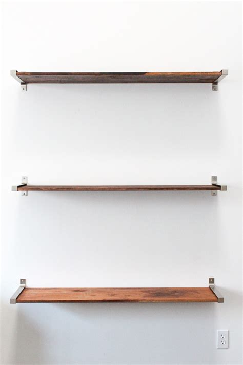 floating wall shelves diy ikea hack distressed wooden shelves to elevate your home