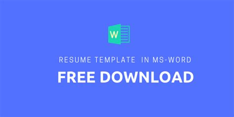 Resume Builder Templates For Word by Resume Ms Word Archives My Resume Format Free Resume