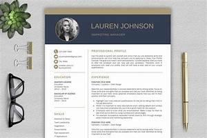 Modern Resume Template    Cv With Cover Letter