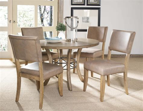hillsdale charleston wood 5pc dining set w parson chairs