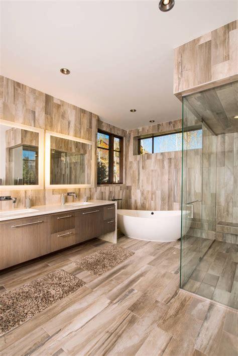 Wood Tiles In Bathroom by 15 Wood Tile Showers For Your Bathroom