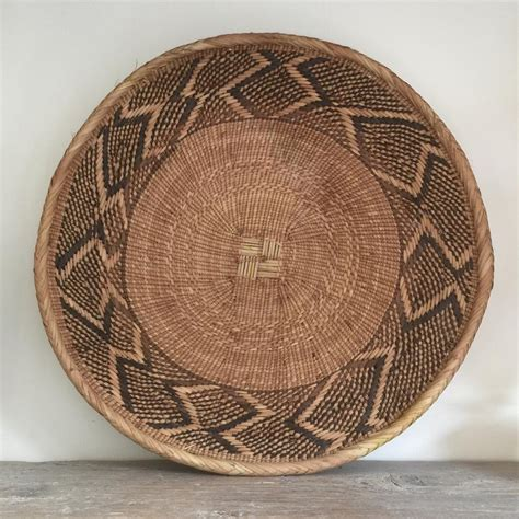 Decorative basket wall art on alibaba.com encompass whole art collections and complementary pieces to existing work bodies. Vintage Handmade Ethnic African Basket / Natural Wall Art #7 - Mustard Vintage