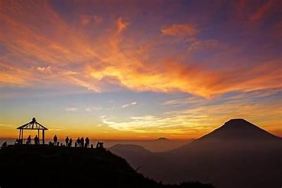 Indonesia Sunrise Dieng Terindah Bukit Yang Sikunir