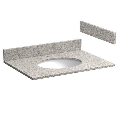 31 inch meteorite gray granite vanity top with pre