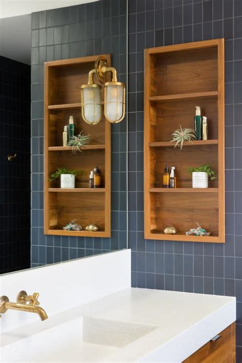 master bathroom  built  storage hgtv