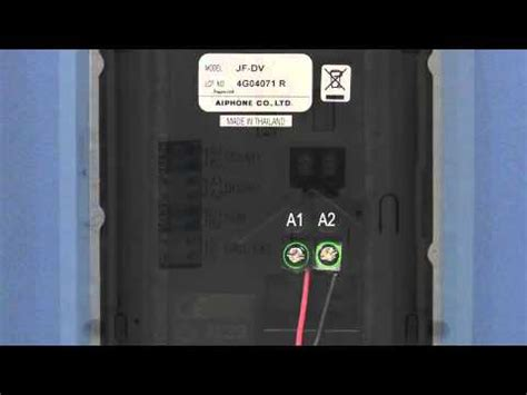 Aiphone Series Wiring Instruction Guide Youtube