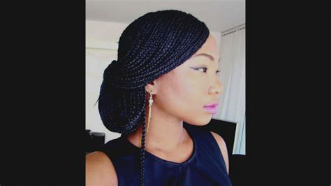 Inspirational Box Braids Updo Hairstyles Syles The Classic