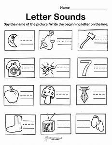 i saw this kind of worksheet in a kindergarten classroom With letter sounds for preschool