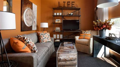 to fruity orange living room designs home design lover
