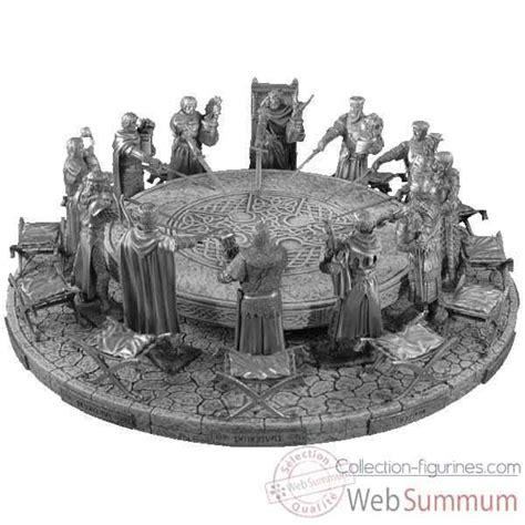 la table ronde arthur figurines 233 tains chevalier de la table ronde arthur de figurine les etains du graal