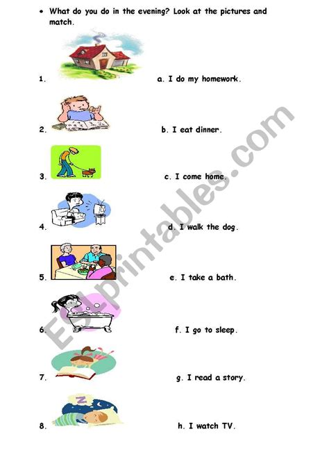 daily routines esl worksheet by heyy