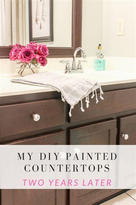 diy painted countertops  review  years