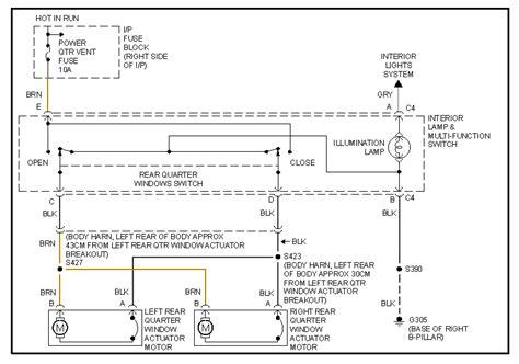 Pontiac Montana Power Window Wiring Diagram by Pontiac Transport Montana 1997 Passenger Side Door Power