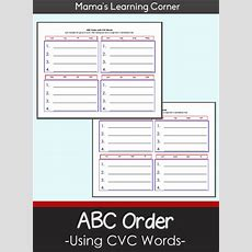 Abc Order With Cvc Words Worksheets  Mamas Learning Corner