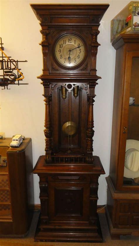details  beautiful antique german open  tall case