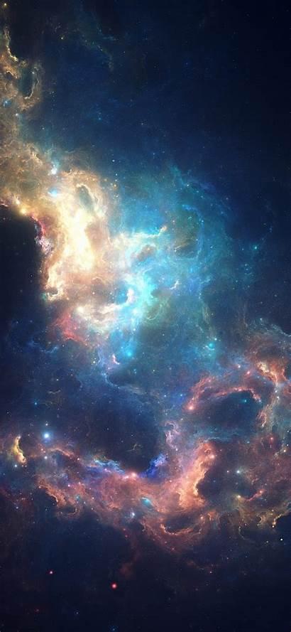 Space Phone Glowing Nebula Bright Galaxy Stars