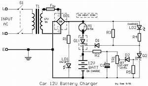 12v car battery charger circuit schematic With 5w simple inverter