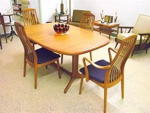 Vintage Mid Century Modern Dyrlund Danish Teak Dining Set