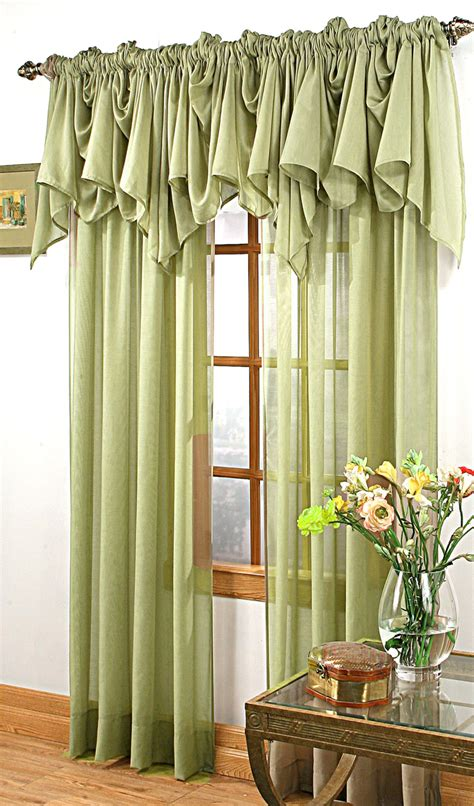 green valance splendor sheer batiste curtain olive green stylemaster