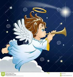 Sweet Little Christmas Angel Stock Illustration - Image ...