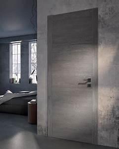 Porte Interieur Grise : porte contemporaine grain atelier bertoli bruno ~ Mglfilm.com Idées de Décoration