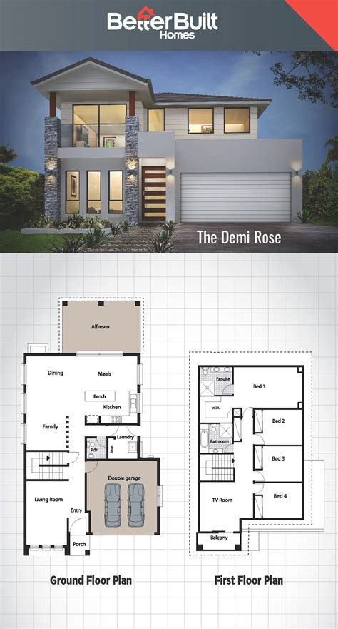 Home Design Ideas Floor Plans by Two Storey House Plan And Design Malaysia Plans With