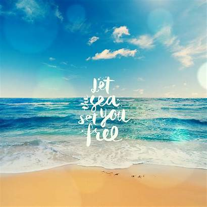 Sea Wallpapers Quotes Let Summer Qhd Background