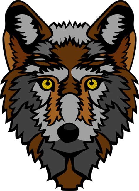 stylized wolf head clip art  clkercom vector clip art