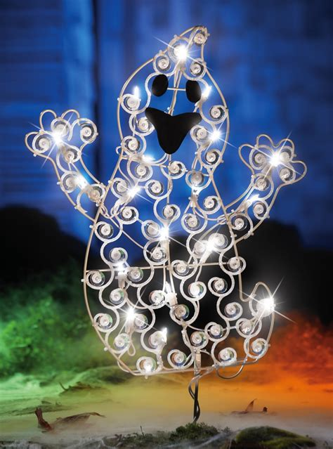 lovable light up ghost outdoor decoration
