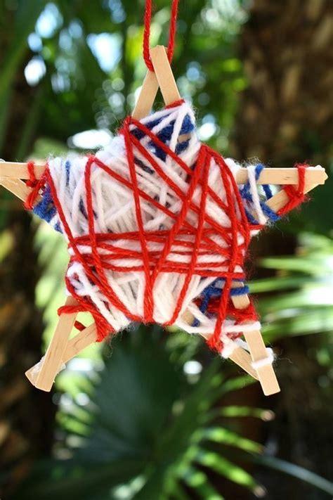 yarn wrapped stars fourth  july craft yarn crafts