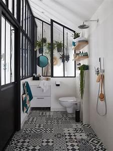 Carreaux Adhesif Salle De Bain : carreaux de ciment salle de bain nos id es d co joli place ~ Melissatoandfro.com Idées de Décoration