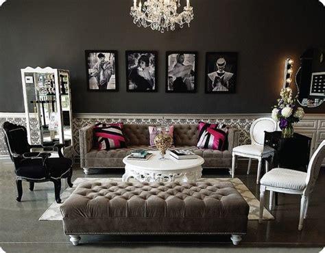 designový nábytek ve stylu glamour
