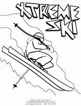 Coloring Pages Sports Extreme Ski Giggletimetoys sketch template