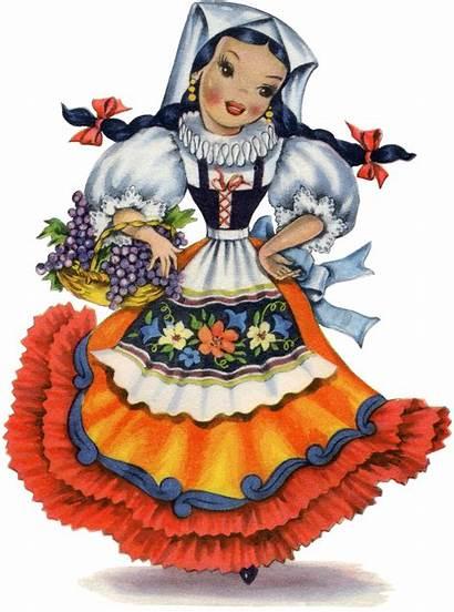 Italian Doll Retro Dolls Graphics Fairy Paper