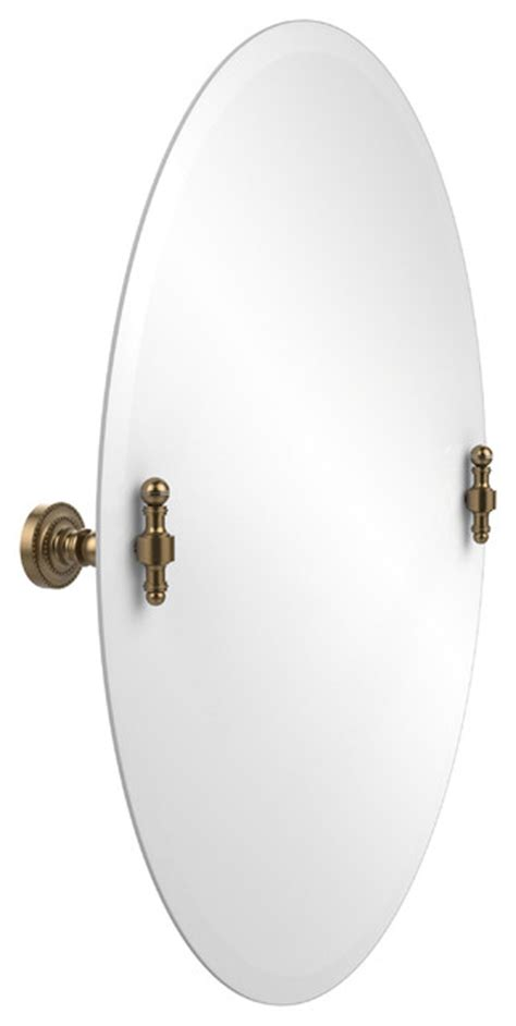 tilting bathroom mirror bronze 21 quot x29 quot oval tilt mirror brushed bronze traditional