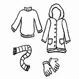 Coloring Winter Clothing Clothes Season Coat Pages Childrens Drawing Getdrawings Fun Clipartmag sketch template