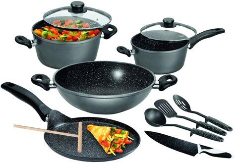 cookware germany stoneline induction bottom flipkart sets kitchen aluminium