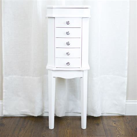 Jewelry Armoire Kmart Essential Home Zoey Jewelry Armoire White Shop Your