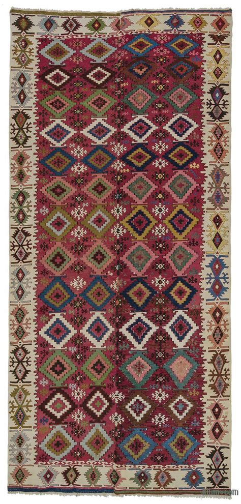 Rugs With by K0007983 Multicolor Antique Adana Kilim Rug