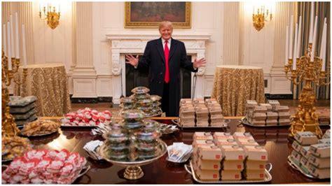 big mac   white house  trump ordered fast food