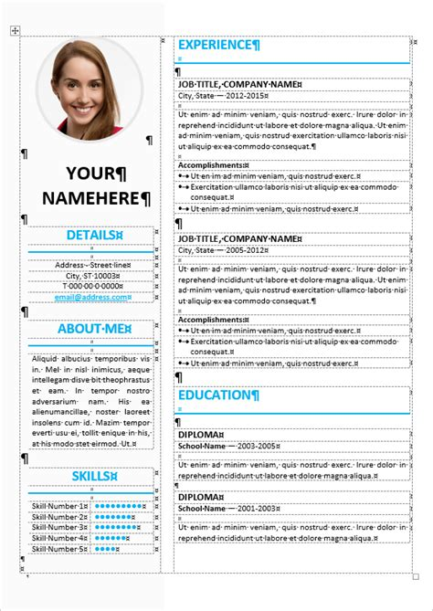 The Table On Resume by Ikebukuro Resume Template