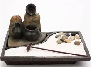 Fontaine Exterieur Zen : fontaine jardin zen cascade avec jarres noires ~ Nature-et-papiers.com Idées de Décoration