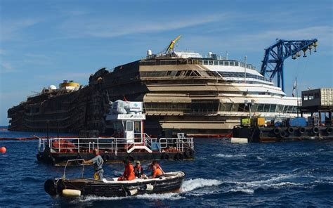 Costa Concordia Latest Photos From Giglio Of The Righted Cruise Ship - Telegraph
