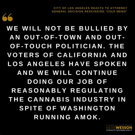 los angeles city councilmember herb wesson statement