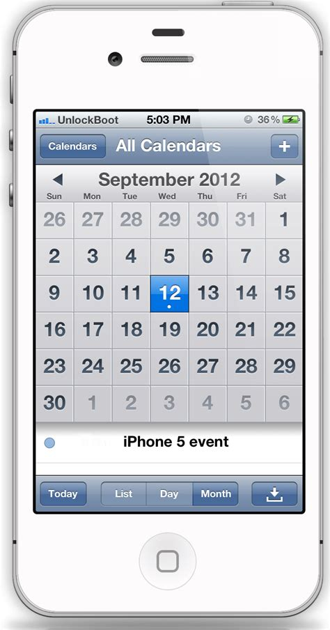 calendar for iphone imore iphone 5 event planned for september 12 launch on